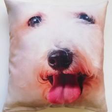 206 3D Minder Kılıfı Beyaz Köpek
